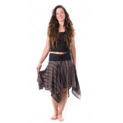 midi-skirt-brown-black-stripes-cotton-hippie-boho-summer-moskitoo-india-kult-switzerland